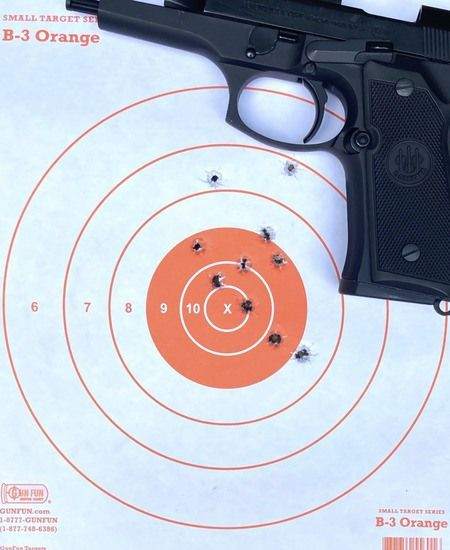 Beretta 92FS Accuracy Grouping